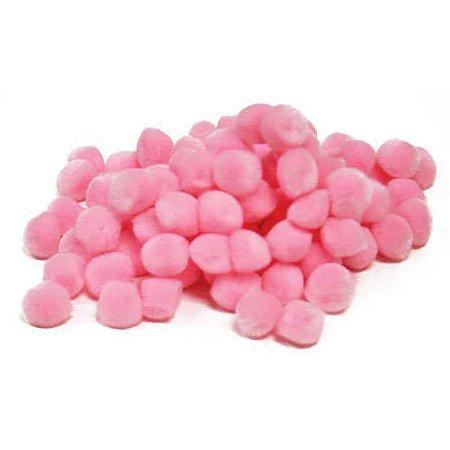 Darice 100 Baby Pink Acrylic Craft Pom Poms 1/2