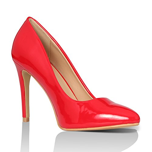 Shoes Red Toe Pumps Women's Fashion Pointed High Dress Patent Yeviavy Stiletto Classic Heels Milla HpxwvAqZ