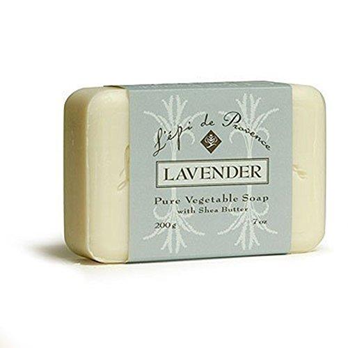 L'Epi de Provence Shea Butter Enriched French Bath Soap - Lavender - 7oz. 200g