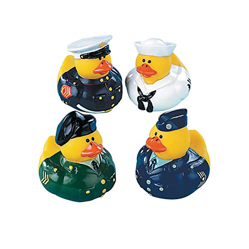 Fun Express Armed Forces Rubber Duck Party Favors Set (12 - Armed Uniforms Forces
