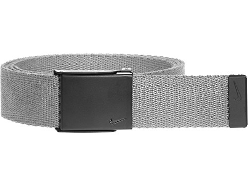 Nike Men's Single Web Belt W/Matte Black Finish, charcoal, One Size ()