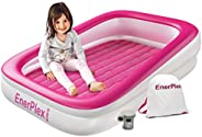 EnerPlex Kids Inflatable Toddler Travel Bed, Portable Air Mattress for Kids, Blow up Mattress with Sides – Bui