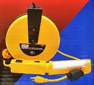 Amazon Com 40 Ft Retractable Cord Reel W 13 Wt Trouble Light Ul Home Improvement
