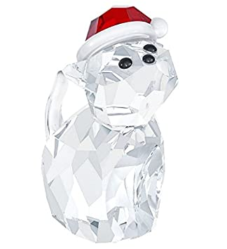 Swarovski Figurines 5060448, Cat with Santa s Hat