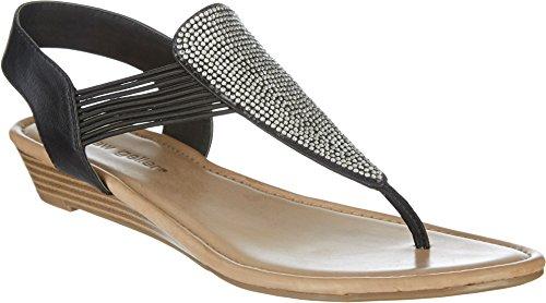 Andrew Geller Larsa Womens Sandals & Flip Flops Svart