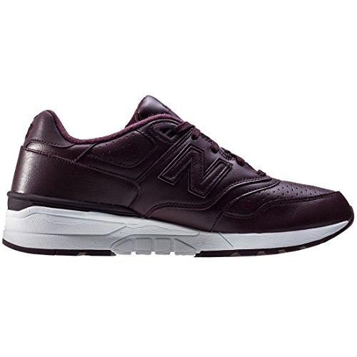 New Balance 597, Zapatillas de Running para Hombre, Negro Rojo (Burgundy)