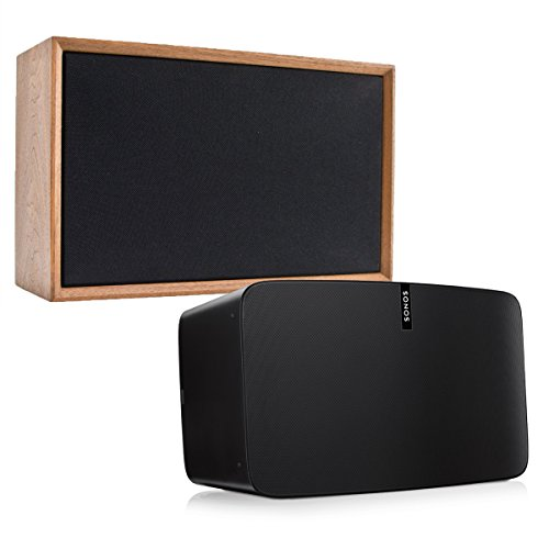 Sonos PLAY:5 - Ultimate Wireless Smart Speaker for Streaming Music with Leon ToneCase Hardwood Cabinet (Black Walnut) by Sonos