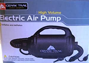 OZARK TRAIL - ELECTRIC AIR PUMP - HIGH VOLUME INFLATES AND DEFLATES