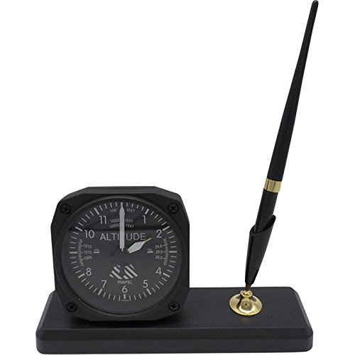Altimeter Desk (Trintec Altitude Altimeter Desk Pen Set with Alarm Clock Model DS60)