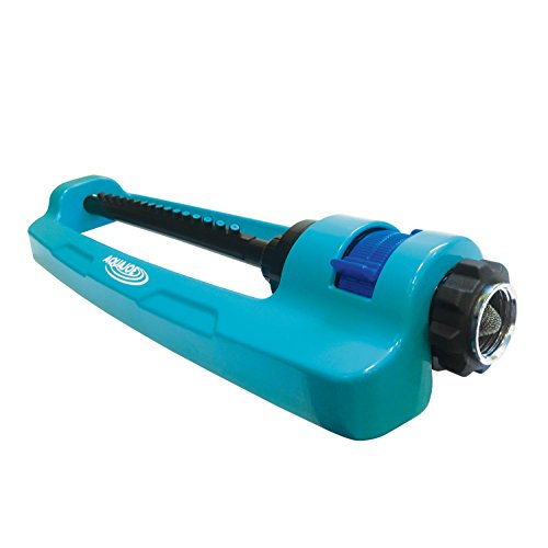 Sprinkler Low Pressure (Sun Joe SJI-OMS16 Indestructible Metal Base Oscillating Sprinkler with Adjustable Spray)