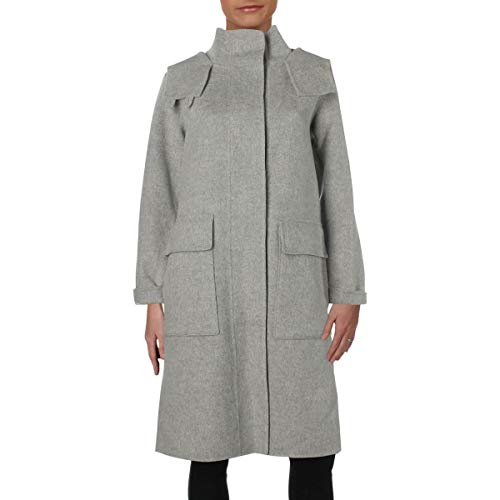 Theory Women's Duffle Coat Df Outerwear, Melange Grey, S