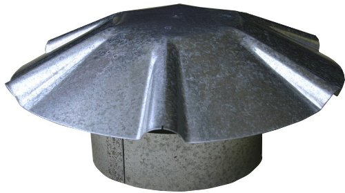 Speedi-Products EX-RCGU 05 5-Inch Diameter Galvanized Umbrella Roof Vent Cap