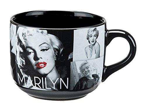 Vandor 70053 Marilyn Monroe 20 Ounce Ceramic Soup Mug  Black White