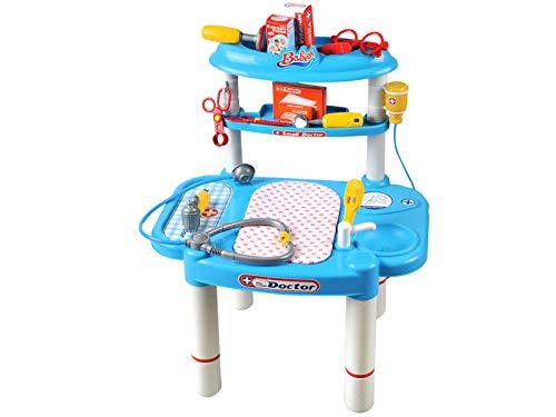 Iso Trade Doktortisch Doktorspiel Puppenklinik Arzt Set Spielzeug Zubehör Neu #1401