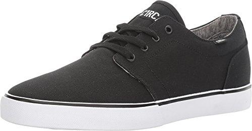C1RCA Men's Drifter Lightweight Insole Skateboarding Shoe, Black/White/Jersey, 8.5 M US