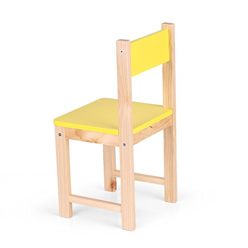 Amazon.com: IKAYAA Wooden Kids Chair Stacking School Chair Furniture 6  Colors Available, Yellow: Kitchen U0026 Dining