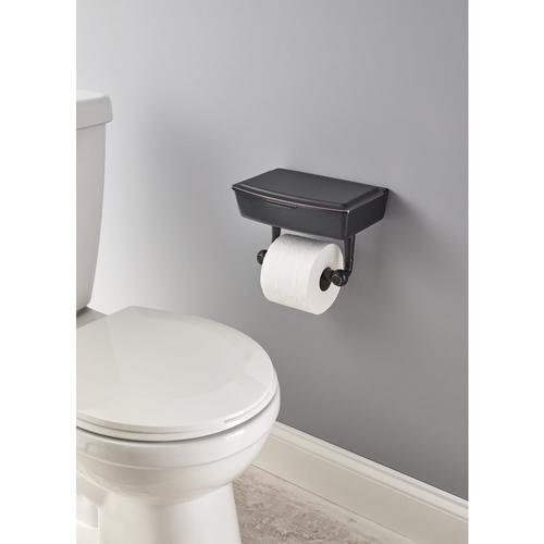 Delta Porter Oil-Rubbed Bronze Toilet Paper Holder with Mobile Phone Storage by Delta