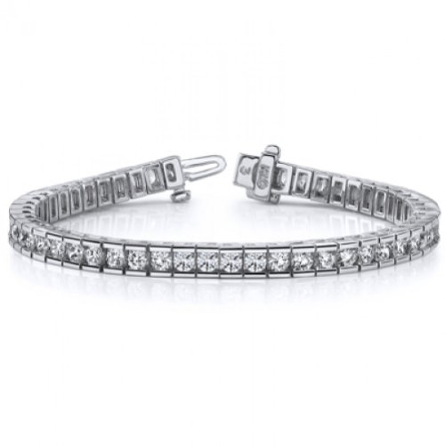 4.00 ct Ladies Round Cut Diamond Tennis Bracelet In Channel Setting ()