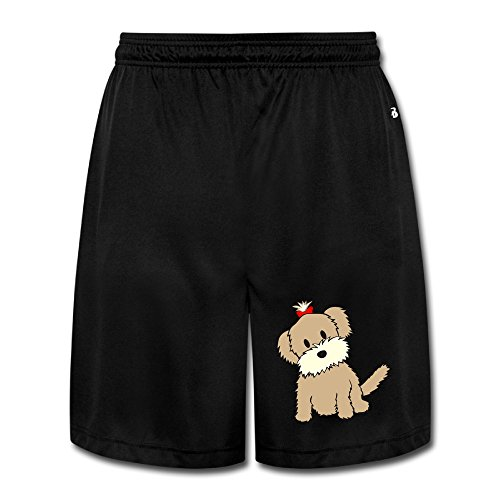 Men's Don't Look At Me From A Cute Baby Puppy Dog Performance Joggers Shorts Sweatpants