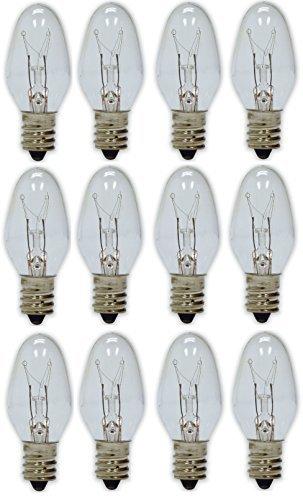 GE Lighting 4-Watt Night Light, Clear C7 2CD, 12-Bulbs by GE