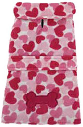 East Side Collection ZM2328 30 75 Heart Fleece Jacket for Dogs, XX-Large, Pink