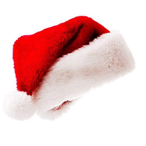 Popmall Santa Hat, 2018 New Aldult Plush Holiday Christmas Costume Classic Hat Red White Headpiece Soft Santa Hats