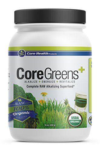 Core Health Products Core Greens 16 Ounce - 14 Organic Non GMO RAW superfoods Grown in The USA