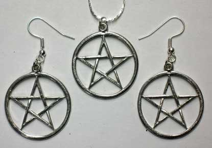Necklace & Earring Set: Pentacle, ()