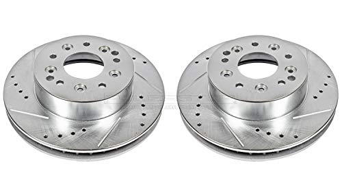 Rear Evolution Drilled & Slotted Rotor Pair ()