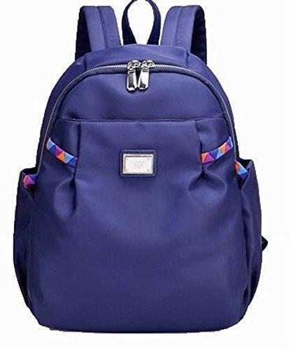 Daypacks randonnée Décontractée Mode Bleu Femme de AllhqFashion Zippers Nylon wCqXZx0F