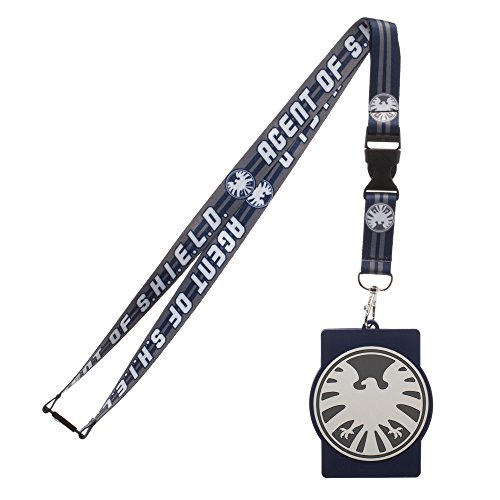Marvel Comics Agents of Shield Logo Lanyard Keychain W/Rubber ID holder