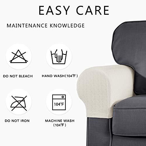 Symax Spandex Armrest Stretch Fabric Anti Slip Recliner Arm