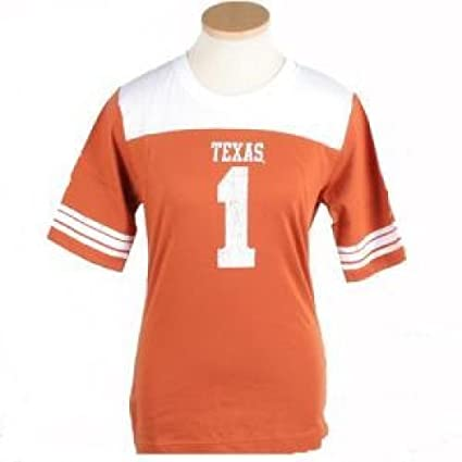 07a8dde7f8f7 Nike Texas Longhorns  1 Orange Ladies College Football Jersey T-shirt  (Large)