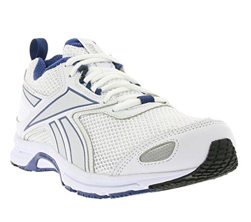 Reebok Triplehall 5.0 AQ9258 Scarpe Running Uomo, Colore: Bianco / Argento / Blue