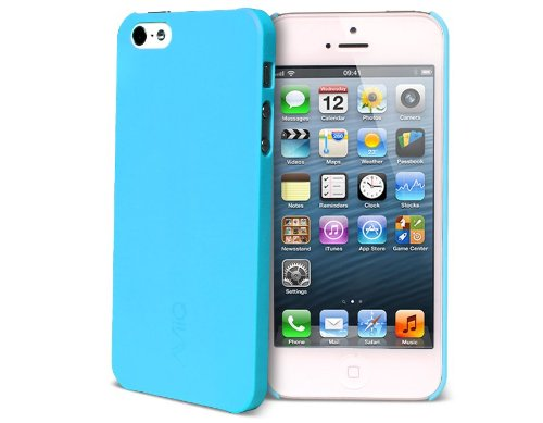Image Unavailable. Image not available for. Color  AViiQ Thin Series iPhone  5 Case - Blue d5f89deba