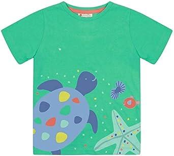 Piccalilly - Camiseta infantil de algodón orgánico, diseño de tortuga azul y verde, unisex, para niños y niñas: Amazon.es: Ropa y accesorios