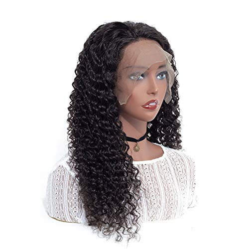 HAIR Brazilian Deep Wave Wigs For Women Pre Plucked 150% Density Remy 134 Deep Wave Lace Front Human Hair Wigs,Natural Color,20inches]()