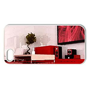 RED passiones - Case Cover for iPhone 5 and 5S (Watercolor style, White)