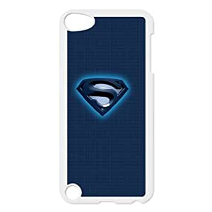 iPod Touch 5 Case White Superman Blue Logo BNY_6931697