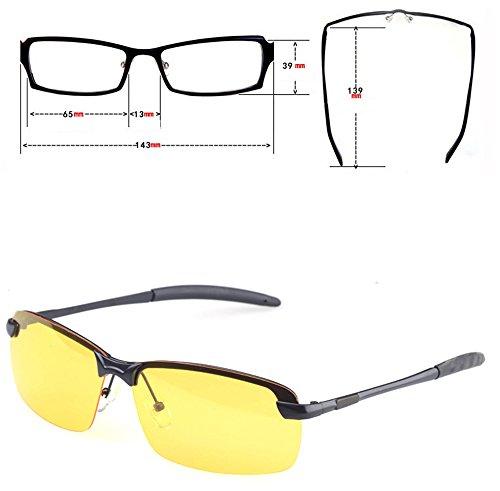 AWYILUFA Lentes Resplandor Gafas Visión Polarizadas Sol Nocturna Gafas De Conducción Lente Conducción De El De Reducen Amarilla Hombres De para rqrgHnA