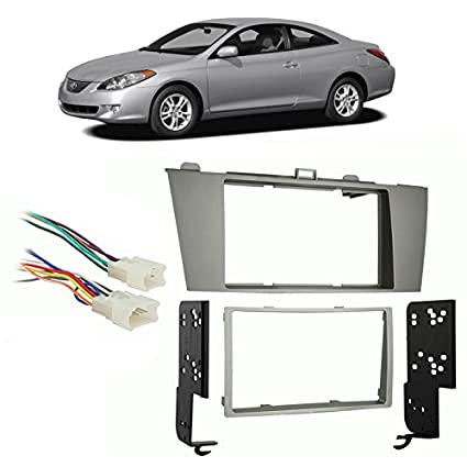 compatible with toyota camry solara 2004 2008 double din harness radio install dash kit Chevy Aveo Wiring Harness