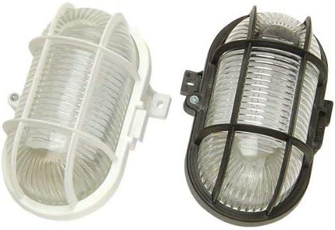 Farbe: schwarz spritzwassergesch/ützte Leuchte zur Decken- und Wandmontage, IP44 Brennenstuhl Ovalleuchte Color // Lampe f/ür Au/ßen und Innenbereich