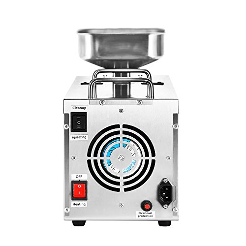 VEVOR Oil Press Machine Stainless Steel Oil Extractor Machine Commercial Oil Expeller Extractor Multifunctional with 3 Uses for Peanut Nuts Seed(Auto Oil Press) by VEVOR (Image #3)