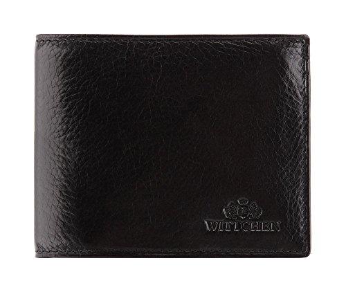 Wittchen Brieftasche | Farbe: Schwarz| Material: Narbenleder| Größe: 11,5x9 CM, | Orientierung: Horizontal | Kollektion: Italy| 21-1-019-1