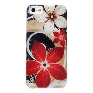 Patr¨®n caso duro desmontable de la flor para el iphone 5/5s