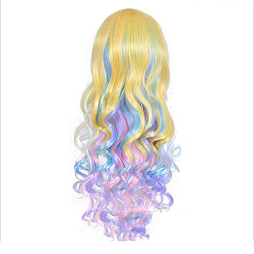 NSYNSY Beautiful Long Wavy Harajuku Style Cosplay Wig,75cm Women's Hair Wig Long Big Wavy Hair Multi Color Wig for Cosplay/Halloween Party Costume ()