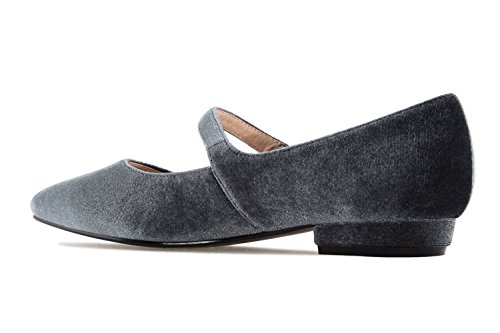 Mary Pour Janes Machado Style Gris Andres Sandales Femme HwPUnx
