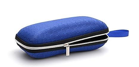 1 Estuche para Gafas con Cremallera port/átil Azul Carcasa r/ígida Wimagic Funda Protectora para Gafas para Mujer y Hombre dise/ño de Panal Ligero 17 * 7 * 6CM