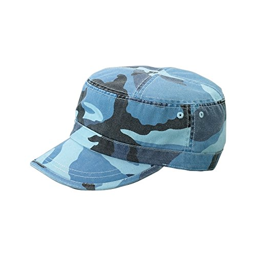 MG Enzyme Washed Cotton Twill Cap,  Blue Camo One Size