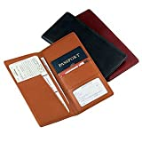 Royce Leather Executive Travel Passport Document Wallet in Genuine Leather, B...